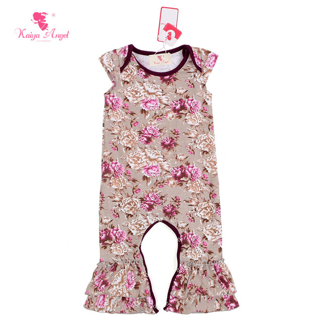 47a64dd16bfd Kaiya Angel Baby Clothes Floral Print Baby Rompers Cotton Jumpsuit Infant  Baby Girls Mini Romper Jumpsuit Wholesale 5pcs lot