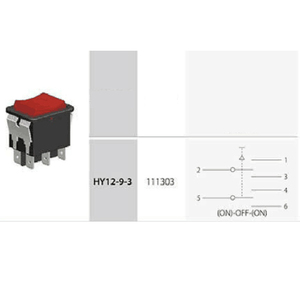 Image 5 - 2pcs KEDU HY12 9 3 6 Pins Push Button On Off On Rocker Switch Pushbutton Switches for Electric Power Tools 125/250V 18/20A