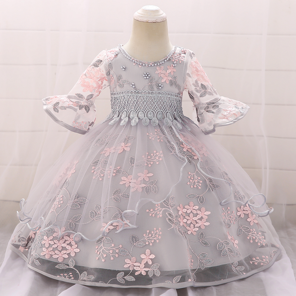 Toddler Baby Kids Girl Floral Long Sleeve Daily Birthday Party Princess Dresses
