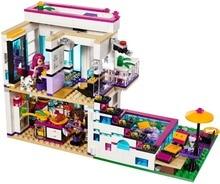 Новый 619 шт. Друзья серии Ливи поп звезда дом строительные блоки Andrea Мини-куклы цифры игрушка совместима с Legoe друзей