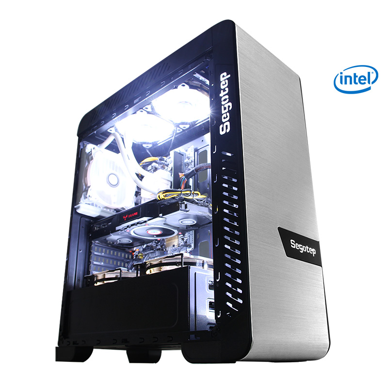 Kotin G1 I7 9700K 3.6GHz Gaming PC Desktop Intel 256GB SSD 16GB RAM (2x8G) Computer RGB Fan Computer Liquid Cooler Water Cooling