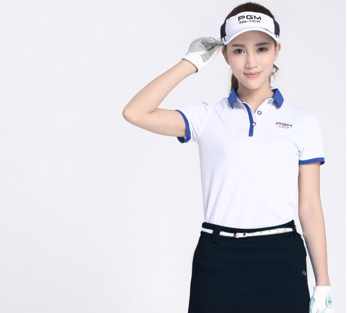 Hot sale!PGM 2017 high quality Golf women clothing polo shirt golf shirts short sleeve red soft lady Golf shirts,Free shipping 2016 new womens golf tshirts branded high quality dobby long sleeve breathable s 2xl 4 colors golf sport clothing free shipping