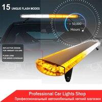 38 72LED Car Flashing Lights Police Lights Bar Tow Truck Emergency Beacon Warning Plow Strobe LED Amber/White/Blue/Red