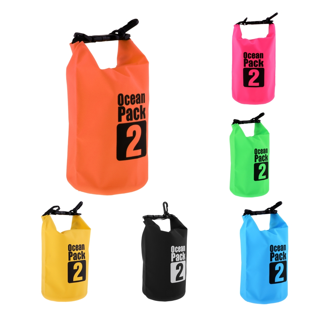 Perfeclan 2L sac étanche sac sec sac pour canoë canotage Kayak à la dérive étanche sac sec sac sac natation Kayak