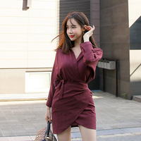Fashion women temperament dress new arrival high quality comfortable transparent solid color trend sexy mini asymmetrical dress