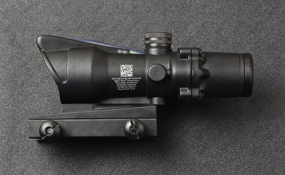 Tactical Trijicon Acog Style 4x32 Prism Optical Fiber Rifle Scope Waterproof M7184