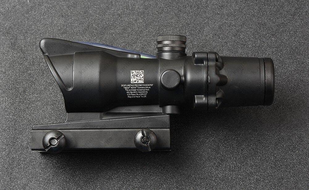 Taktyczny trijicon acog styl 4x32 pryzmat optyczny karabin zakres wodoodporny M7184 Lunety karabinowe Sport i rozrywka - title=