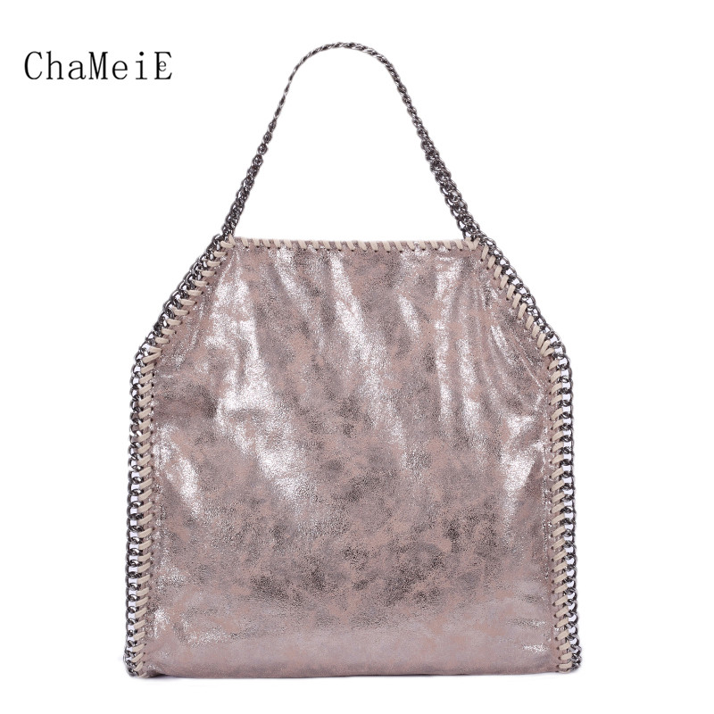 2018 New Arrival Luxury Women Bag Fashion Totes Famous Brand Handbag PVC Zipper Foldable Shoulder Bag Bolsa with Chain Sac цена