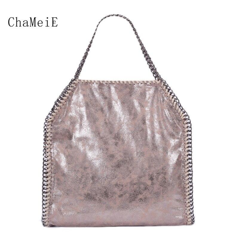 2018 New Arrival Luxury Women Bag Fashion Totes Famous Brand Handbag PVC Zipper Foldable Shoulder Bag Bolsa with Chain Sac