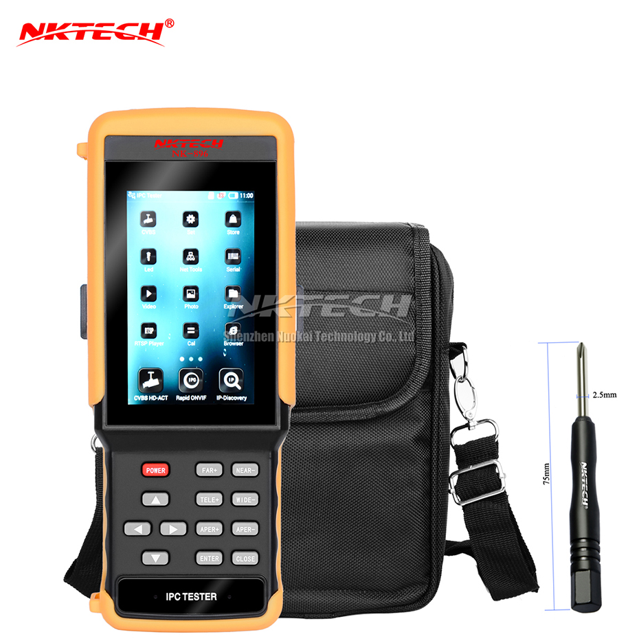 NKTECH NK-896 IP Camera CCTV Tester 5-IN-1 HD Video Security Monitor WiFi 4.3 IPS Capacitance Touch Screen for IP AHD CVI TVI