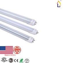 100pcs lot stock in USA UL DLC T8 LED Tube Light 2ft 9W 18W 4ft SMD2835