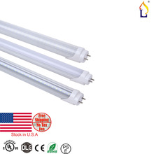 100pcs/lot stock in USA UL DLC T8 LED Tube Light 2ft 9W 18W 4ft SMD2835 AC100-277V Replacement G13 Lampada Led Fluorescent Bulb