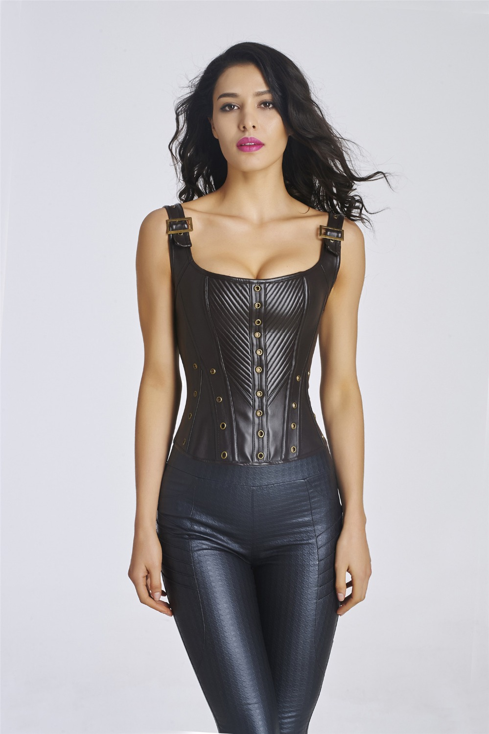 95b4642ca93fd free shipping Women Corset Top Waist train Corsets Gothic Corselet corpetes  Overbust Plus Size sexy corsets and bustiers-in Bodysuits from Underwear ...