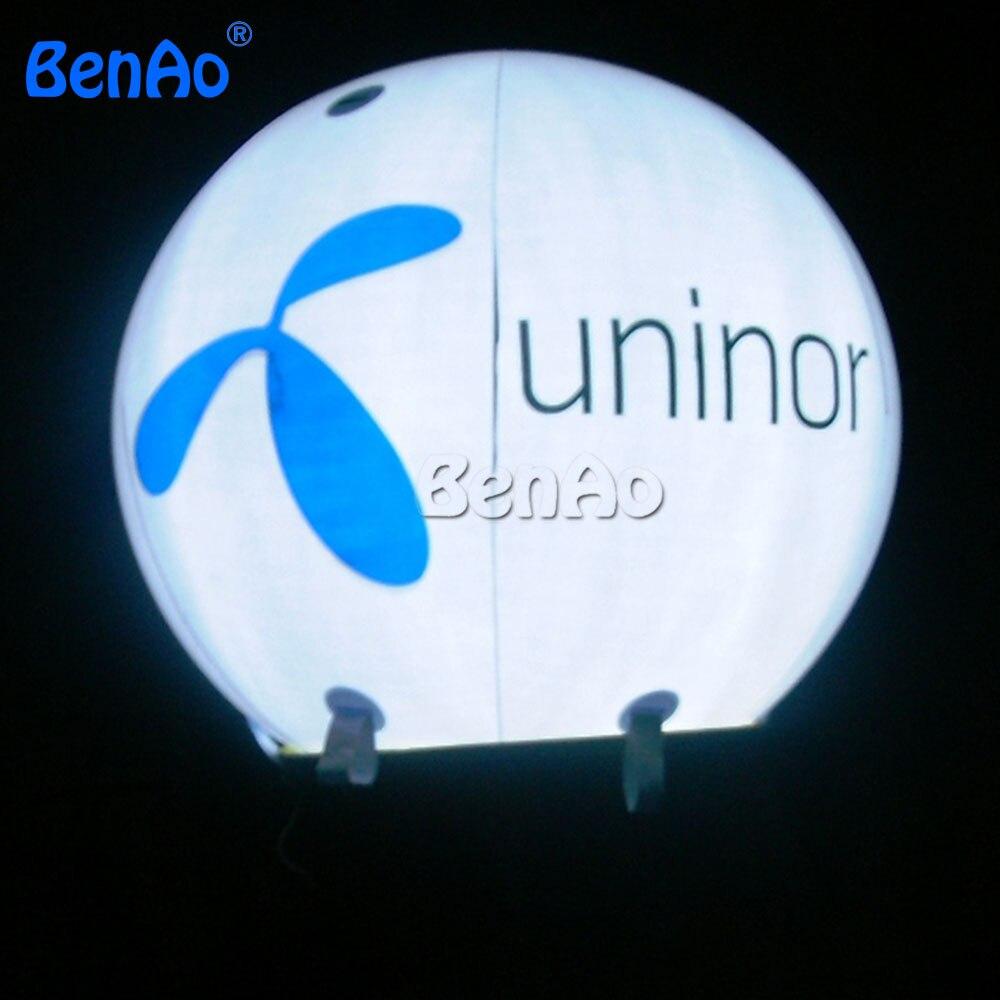 HB06 BENAO DHL ПВХ освещенные воздушный шар с гелием и логотип бесплатно 3 м и положительные отзывы