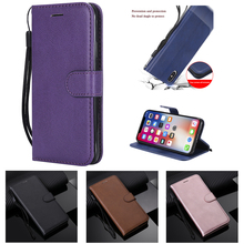 Business Leather Case for Iphone Xs Max Solid Color Flip Cover X Xr Magnetic Stander Card Slot Wanllet