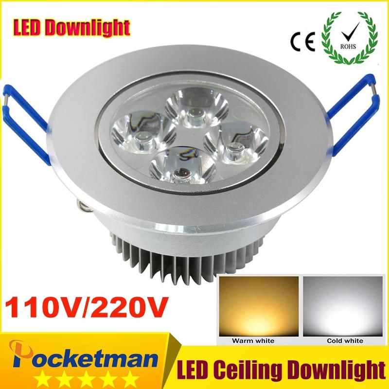 9W 12W 12W Led Downlight Apgaismojums AC85-265V Epistar Iegremdēts kabinets Sienas spožu griestu lampa mājas apgaismojumam 110V 220V