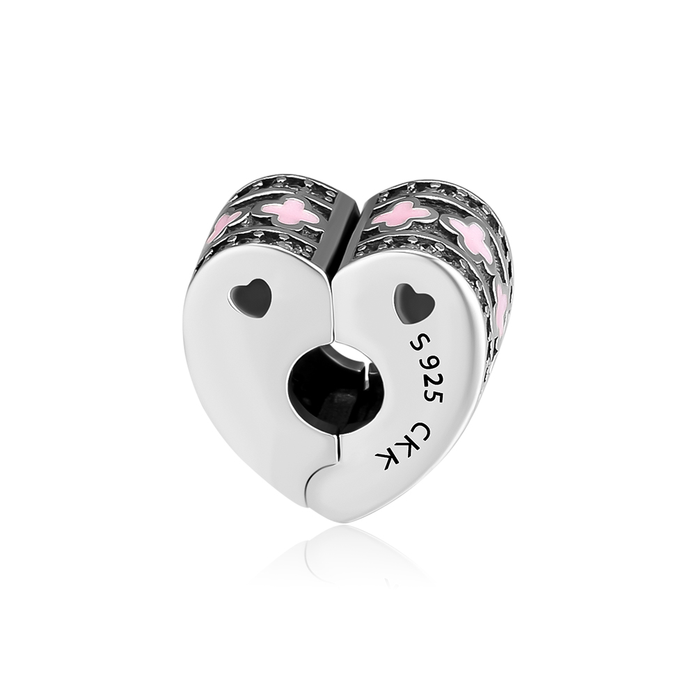 Fits Pandora Bracelet Beads for Jewelry Making Sparkling Arcs Of Love Clip Charms Silver 925 Original Fashion Jewelry kralen in Beads from Jewelry Accessories