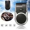 New Solar Powered Wireless Bluetooth Handsfree Car Kit Speaker Phone Sun Visor Panel Clip With Mic Noise Reduction