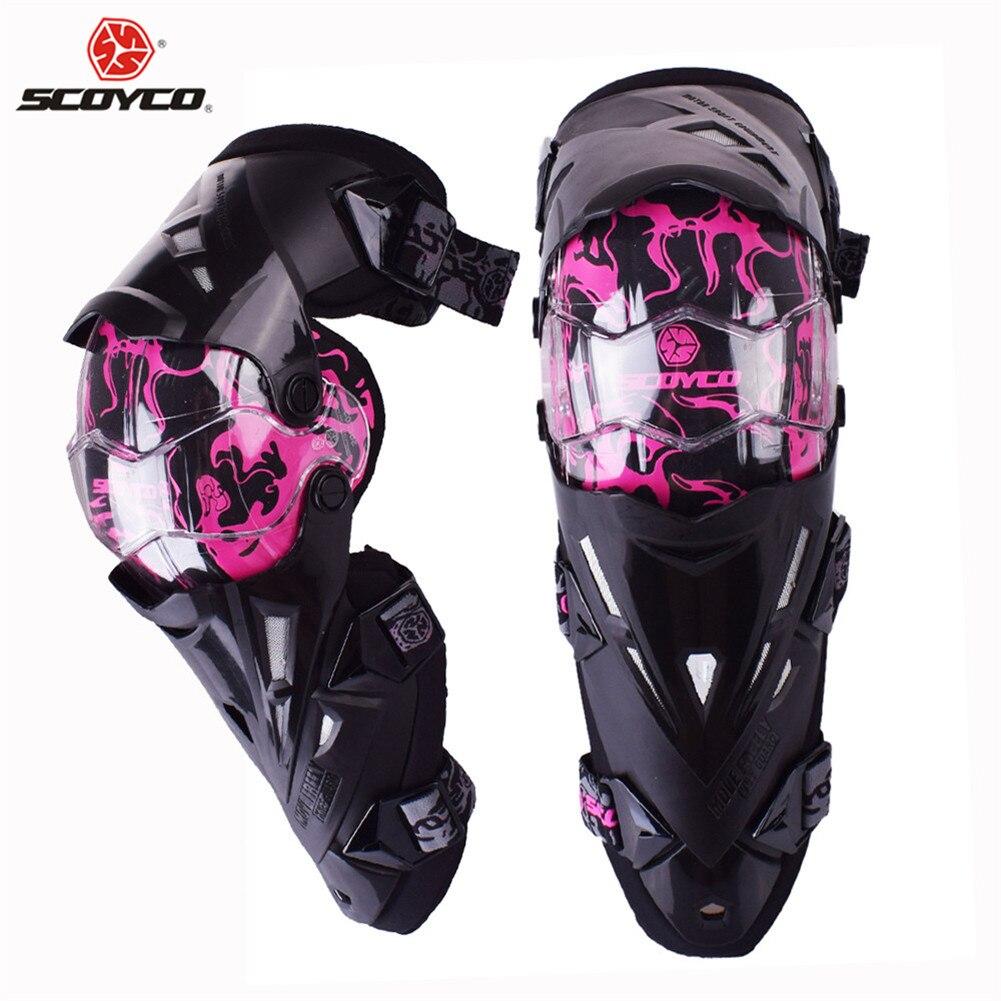 Série limitée Scoyco K12 femmes rose moto genouillère de protection Motocross genou protecteur motorsports genouillère de protection