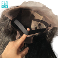 Brazilian Silk Base Wigs With Elastic Band 8 24Inch Straight Full Lace Human Hair Wigs Pre Plucked Bleached Knots Remy Hair