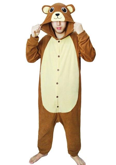 31ef88dab2 Unisex adultos animal precioso oso pardo onesie pijamas Cosplay traje
