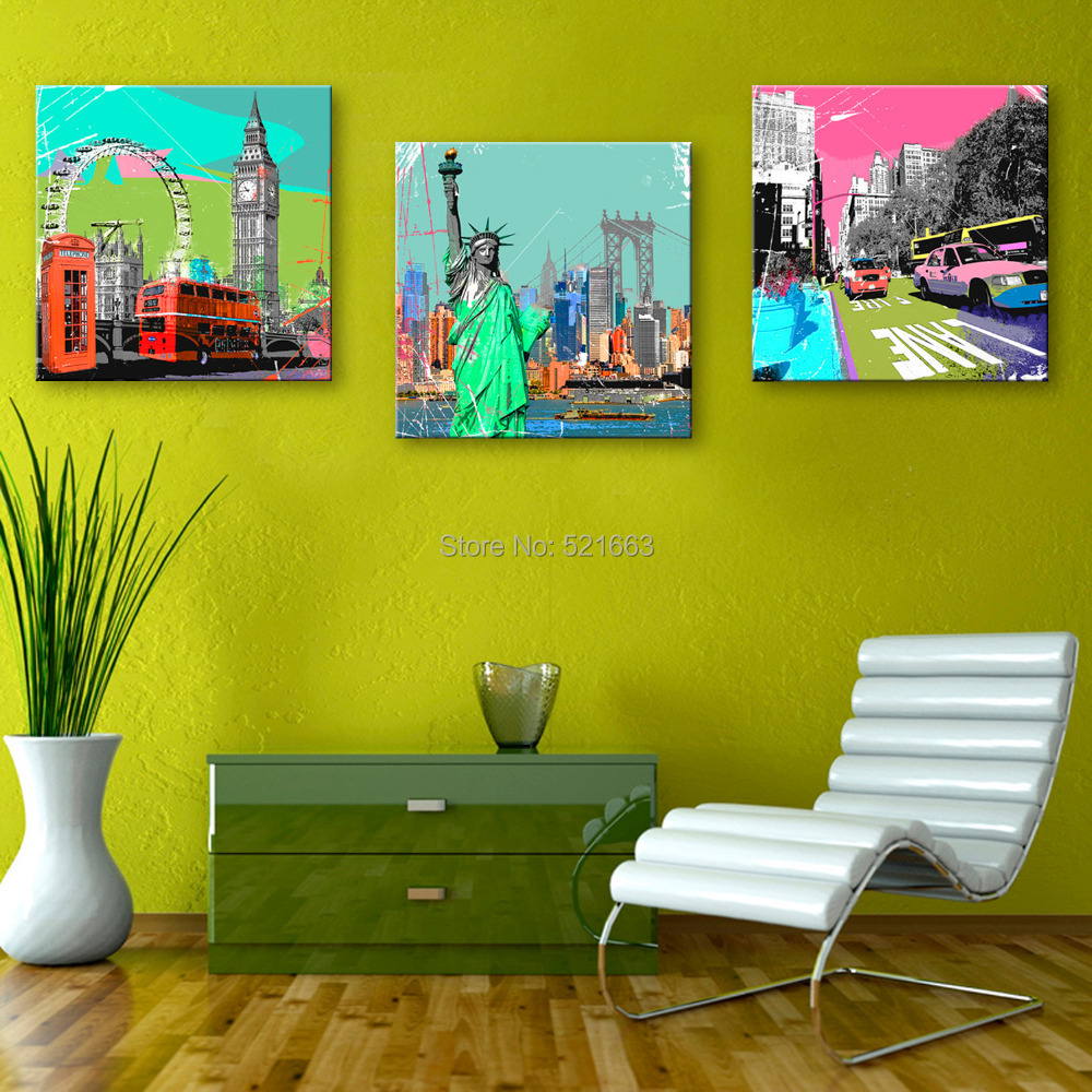 Hd oil painting famous buildings decoration painting home decor on canvas modern wall art canvas - Home decor promo code paint ...