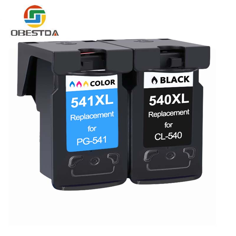 Obestda Pg 540 Cl 541 Cartridge For Canon 540 541 XL Pixma MG3155 MG3200 MG3255 MG3500 MG3550 MG4100 MG4150 MG4250 MX374 MX375