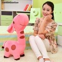 Large 65cm Cartoon Pink Giraffe Plush Toy Soft Doll Throw Pillow Valentine S Day Gift W2678