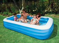 inflatable 3 ring summer big size 305*183*56cm blue white above ground poo AGP family swimming pool adult play pool B31010