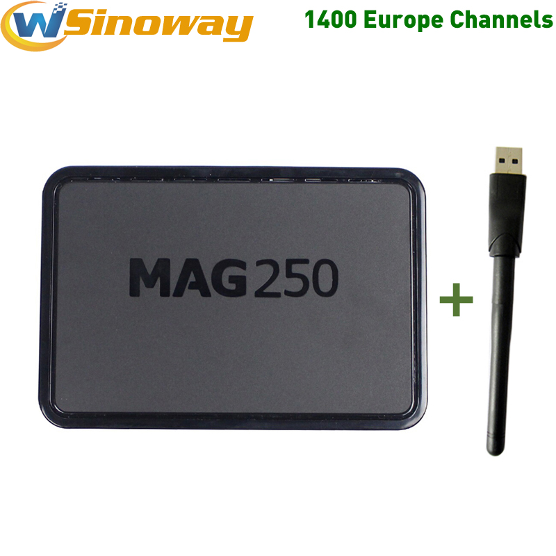 Prix pour Europe iptv boîte MAG250 iptv italie Européenne IPTV 1 année Suède IPTV MAG 250 avec USb wifi + SE ES Espagne Ciel ROYAUME-UNI IL DE France IPTV