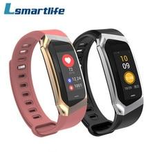 E18 الذكية المعصم الفرقة معدل ضربات القلب ضغط الدم رصد الرياضة سوار اللياقة البدنية ساعة ذكية ل iOS أندرويد الرجال النساء