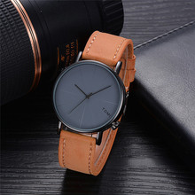 Fashion Casual Men's Watches Luxury Bussines Watch Retro Design Leather Band Round Analog Quart Wrist Watch relogio masculino