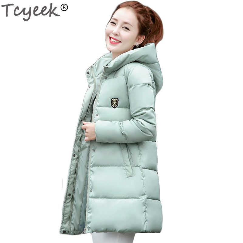 3ba35c2c0b0 Tcyeek 2019 Новые Длинные парки женские зимние пальто толстые хлопковые  зимние куртки женские s Верхняя одежда