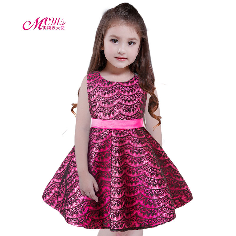Fashion Flower Girls Christening Lace Dress For Kids Clothes 2018 Summer Party Dress Girl Princess Dress 4 5 6 7 8 9 10 11 Years girl dress autumn white long sleeved clothes korean cotton size 4 5 6 7 8 9 10 11 12 13 14 years kids blue lace princess dress