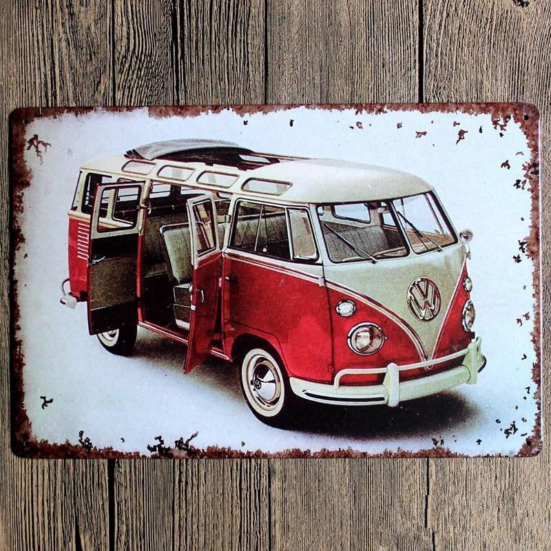 Vintage Metal Sign Bus Combi Garage Car Sign Cafe Bar Pub Vintage
