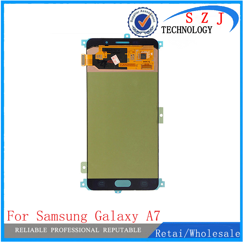 New For Samsung Galaxy A7 2016 A710 A7100 A710M A710F LCD Display with Touch Screen Digitizer Assembly Free Shipping  white for samsung galaxy s2 i9100 lcd display touch screen digitizer assembly bezel frame tools free shipping