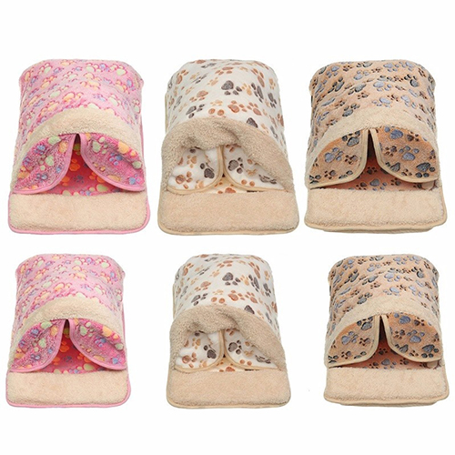 TINGHAO Cat Dog Bed Sofa Soft Warm Kitty Puppy Sleeping Bag Winter Pet Bedding House ...