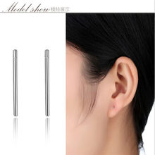 New !!! S925 silver earrings fashion ear pin small ear bone for female simple ear jewelry free shipping(China)