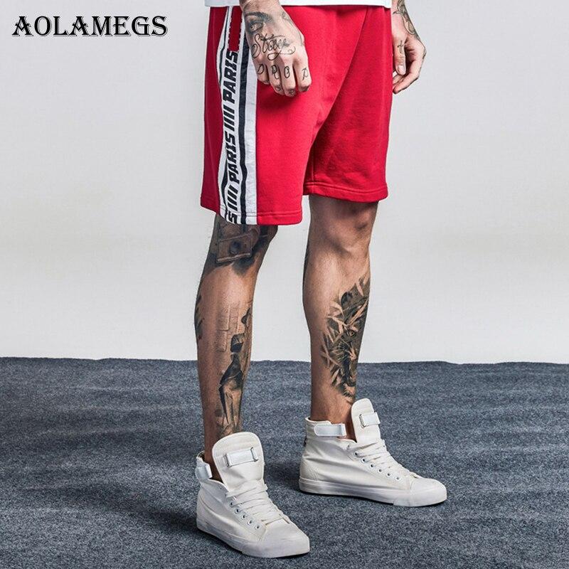 Aolamegs Shorts Men Retro Side Striped Bermuda Beach Knee-length Shorts Elastic Mens Sweatpants Casual 2018 Fashion Streetwear ...