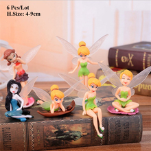 flying fairy decoration for birthday cake topper baby girls toys kids party gifts for guests wings fairy party cupcake toppers цена