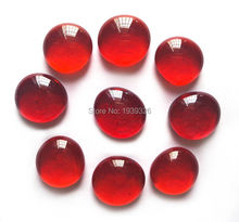 Red Glass Marbles 80 Pieces Flat Beads Pebble Stones For Vase Fish Aquarium Garden Ornaments Decorative Craft Gifts Glass Stone