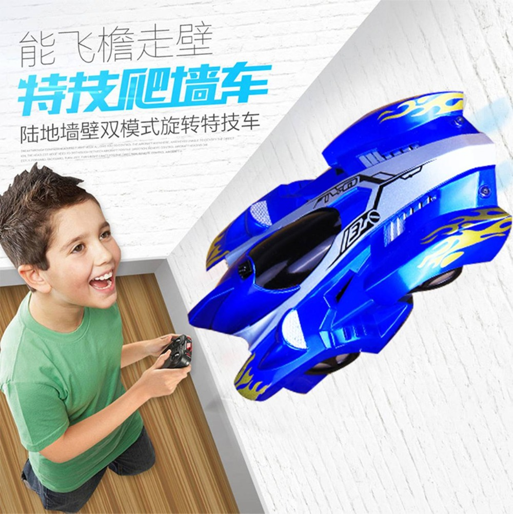 Childrens toys, electric remote control wall climbing car, wireless electric remote control cars, model toys, RC Cars