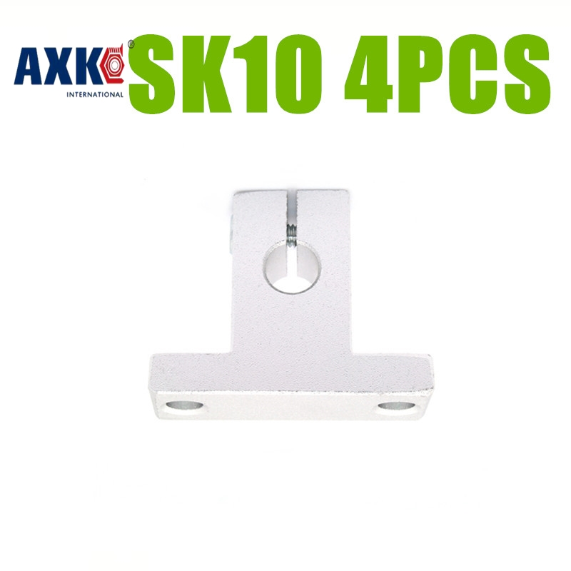 AXK 4pcs SK10 10mm linear bearing rail shaft support XYZ Table CNC Router SH10A SK10 sk16 sh16a 16mm linear rail shaft support xyz table cnc 2pcs lot
