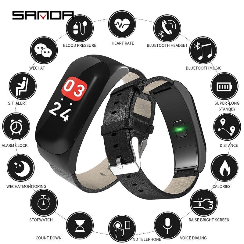 Sport Watch Men Smart Watch Blood Pressure Heart Rate Monitor Wristwatch Waterproof Calorie Sport Watch Bracelet