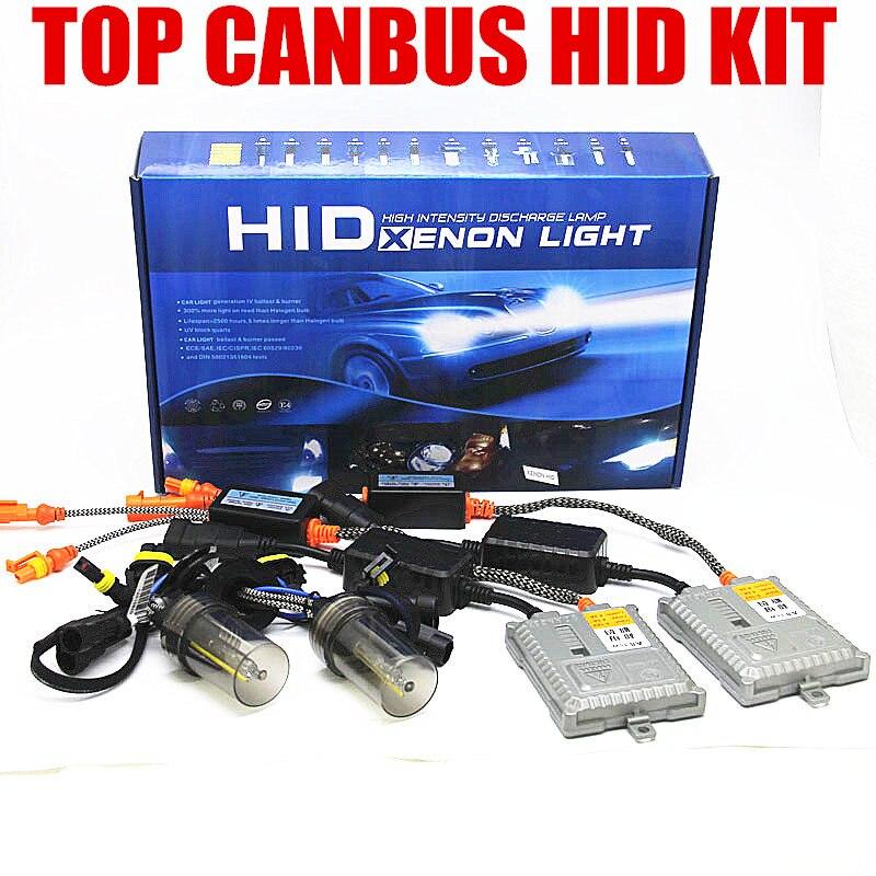 original 5500K canbus HID H1 H3 H7 H11 9005 9006 H4 ERROR free XENON headlight kit цена