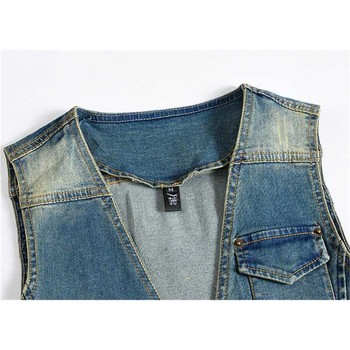 New Fashion Men Retro Vest Sleeveless Ja...
