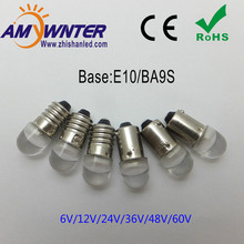 12V T4W BA9S E10 Led Bulbs Warm White Car LED Cars CREE Chip 5050 SMD LED Instrument lights Bulbs Light Sourse car-styling youen ba9s 6smd 5630 led canbus lamps error free t4w car led bulbs interior lights car light source parking 12v white 8000k