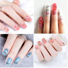1 Sheet Mixed Design New Nail Art Sticker Rose Flower Nail Sticker Water Decal Slider Wraps Decor Manicure Nail Art Decoration flamingo nail stickers animal series water decal ocean cat plant pattern 3d manicure sticker nail art decoration
