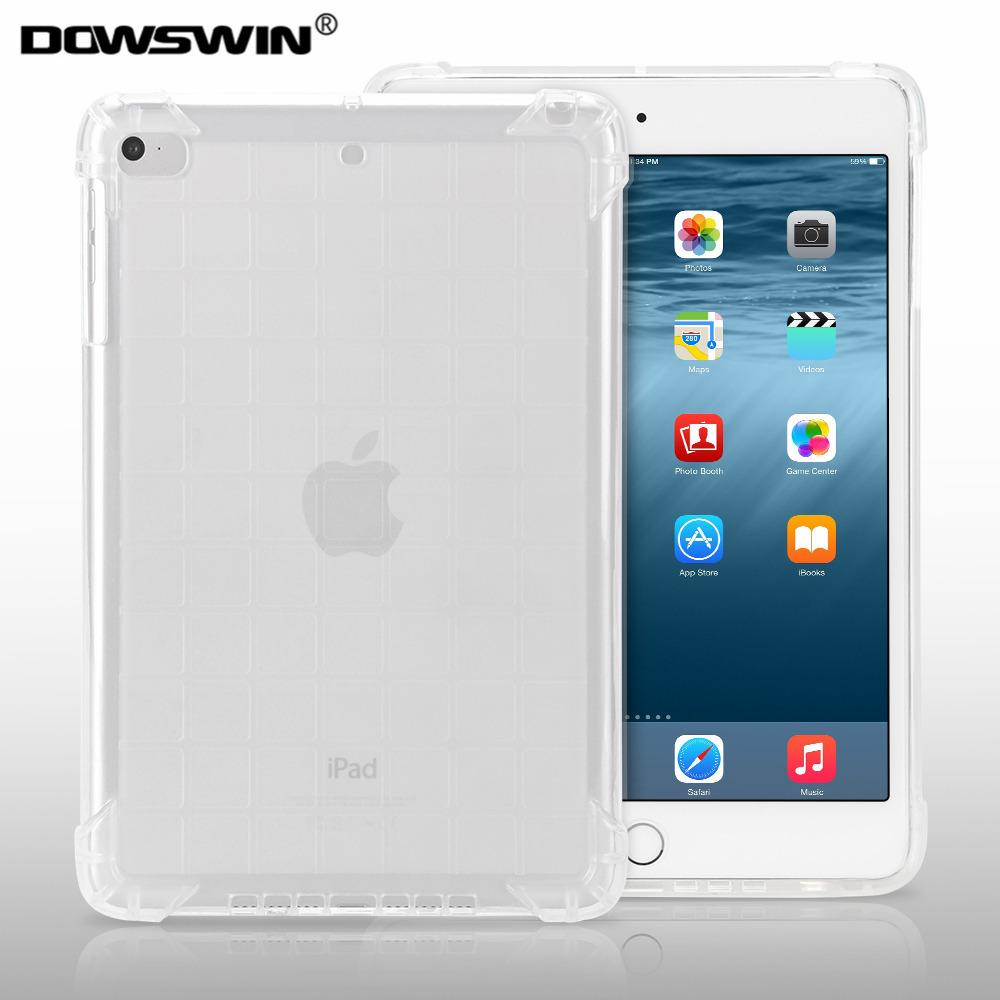 for ipad mini 2 3 case ,DOWSWIN translucent tpu soft case for ipad mini 2 case full protect shockproof for ipad mini 3 cover