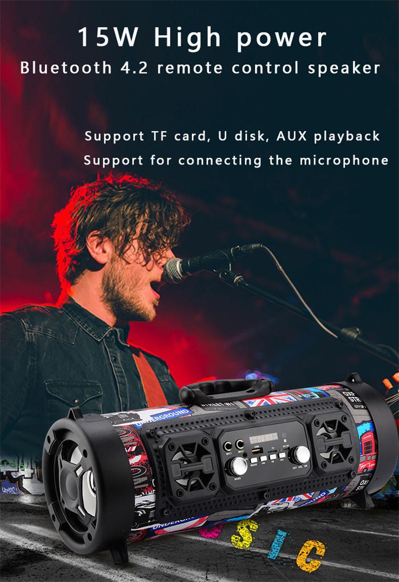 Portable Loud Bluetooth FM Speaker